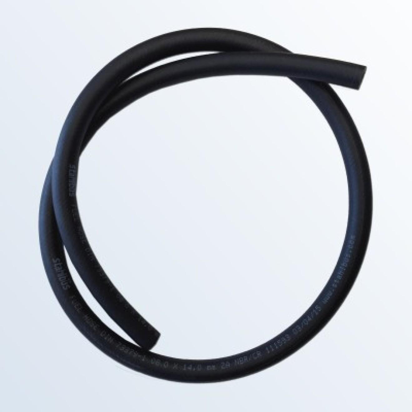 Benzinschlauch Kraftstoffleitung 8mm Öse 50cm lang Schlauch Edelstahlgeflecht